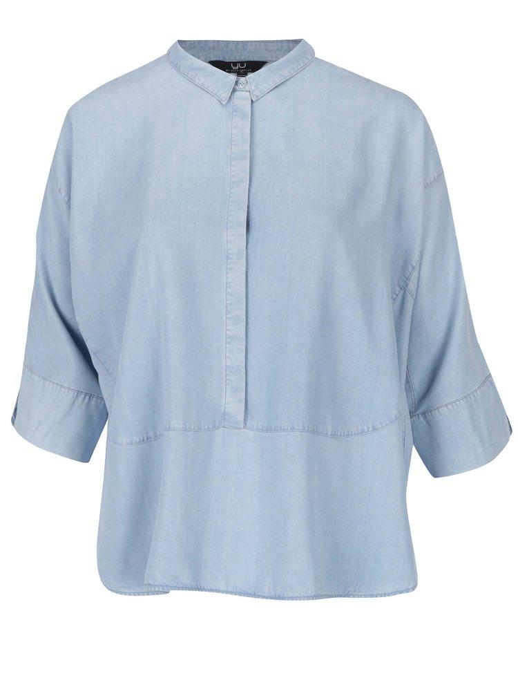 Bluză bleu cu mâneci 3/4 - Ulla Popken