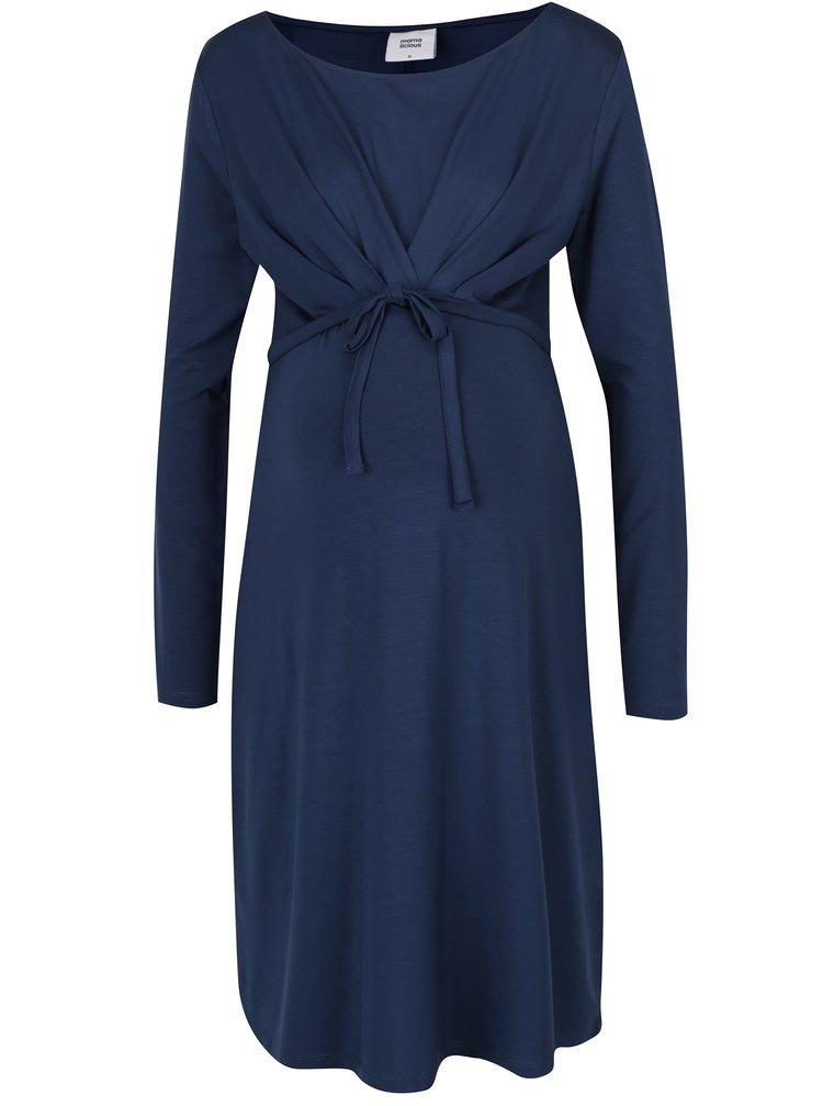 Tmavě modré těhotenské šaty Mama.licious Lissy
