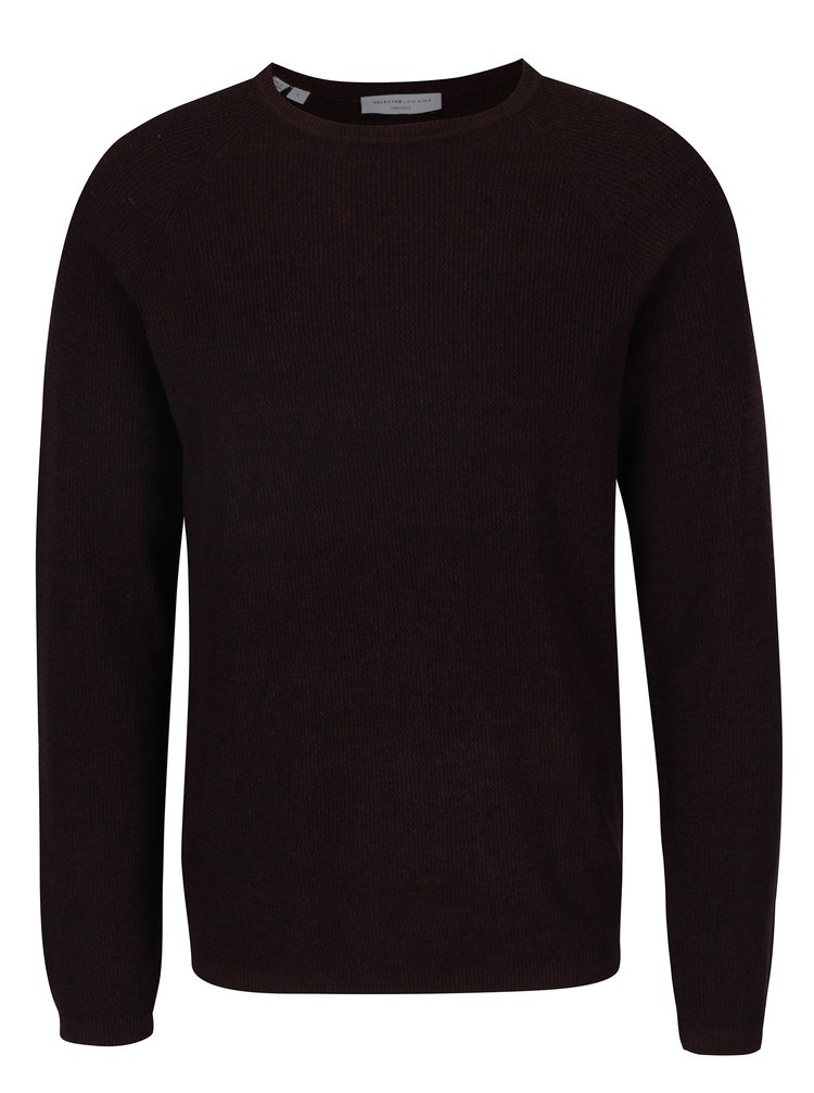Pulover subțire burgundy -  Selected Homme Shane