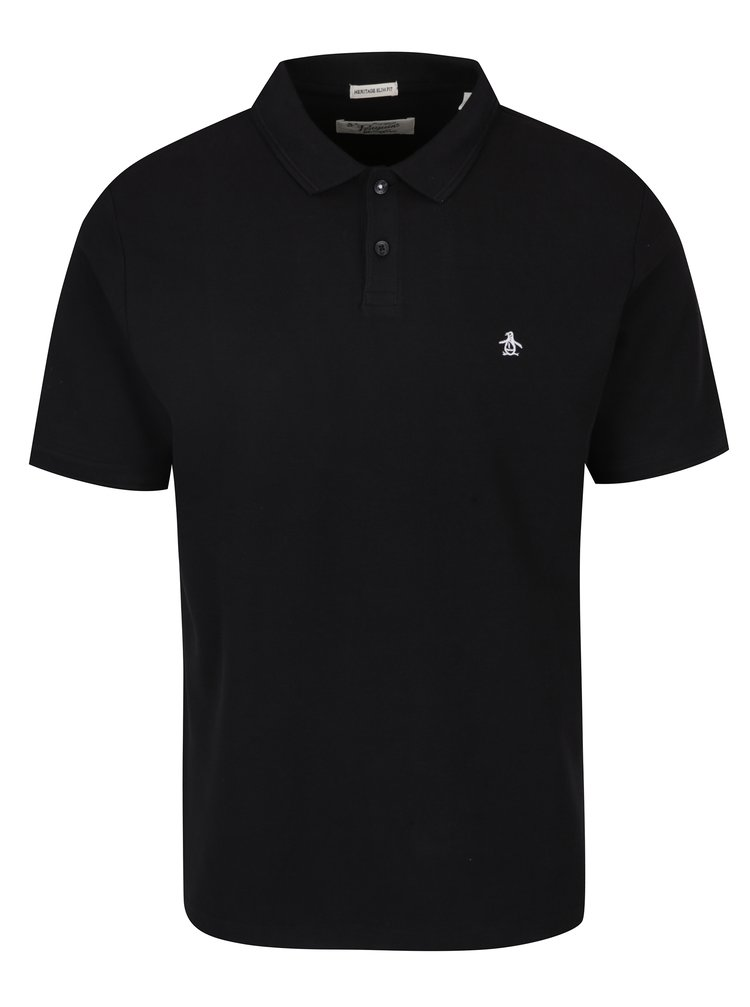 Černé slim fit polo tričko Original Penguin Winston