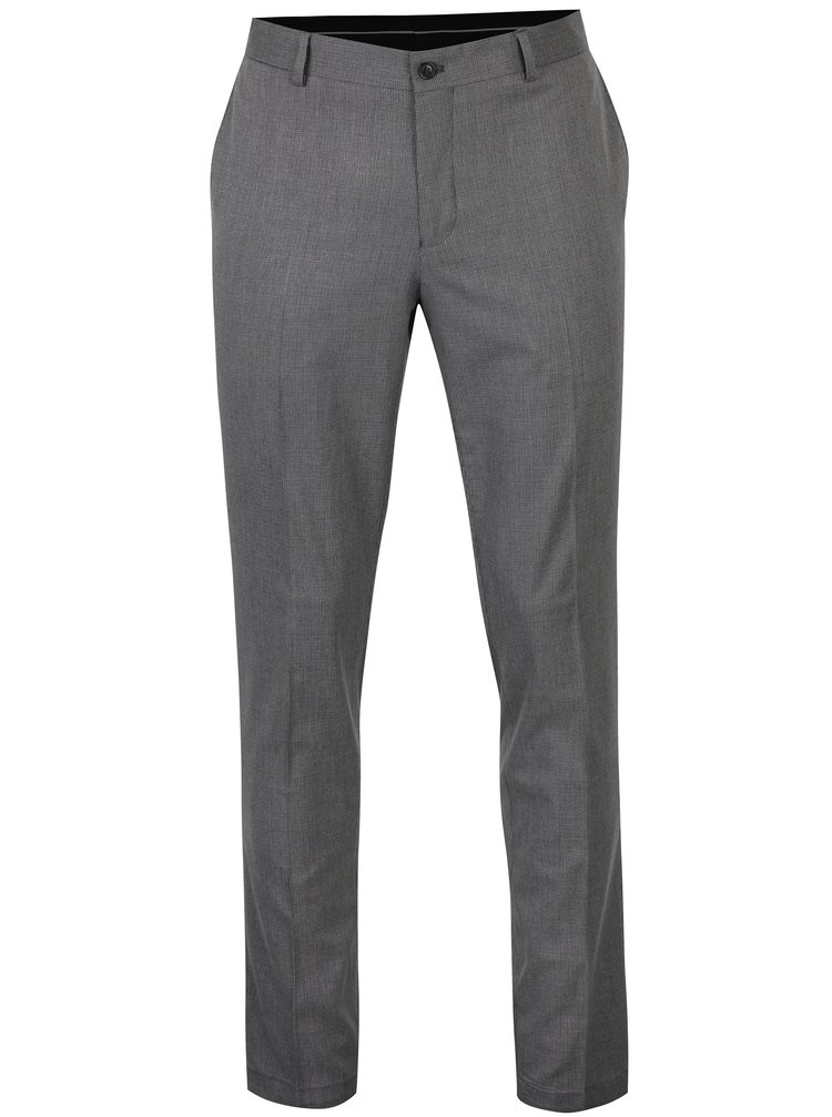 Pantaloni gri cu model - Selected Homme Skinny