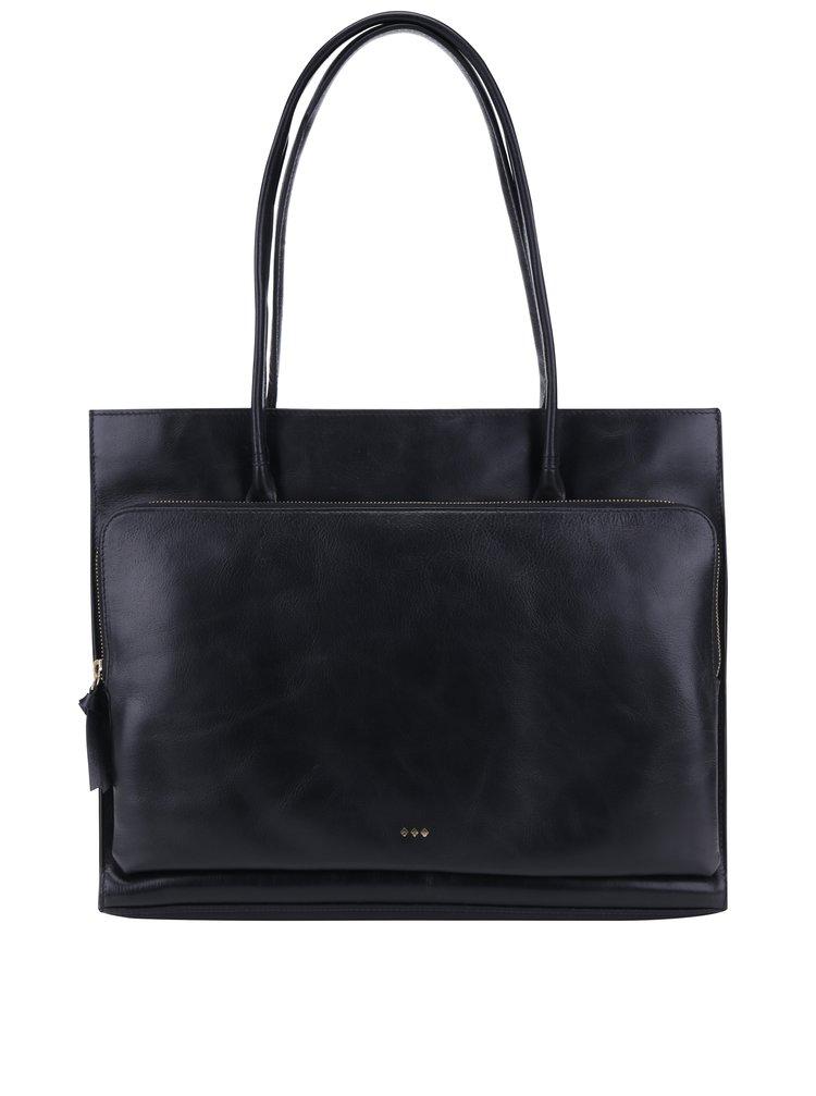 Černá velká kožená kabelka Royal RepubliQ