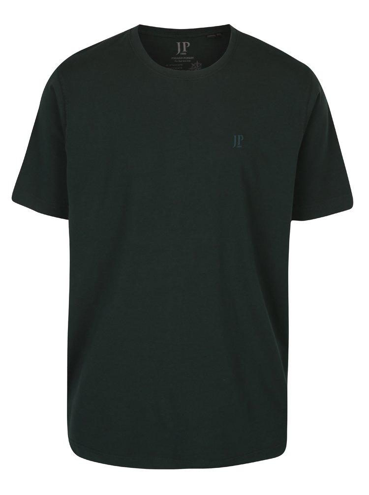Tmavě zelené basic tričko s krátkým rukávem JP 1880