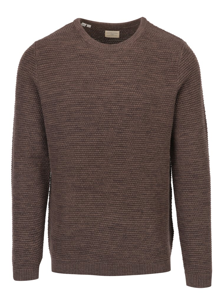 Hnedý melírovaný sveter Selected Homme New Vince