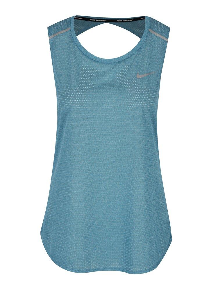 Světle modré dámské funkční tílko s průstřihem na zádech Nike