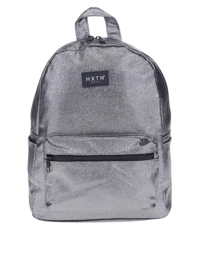 Šedý třpytivý batoh HXTN supply 12 l