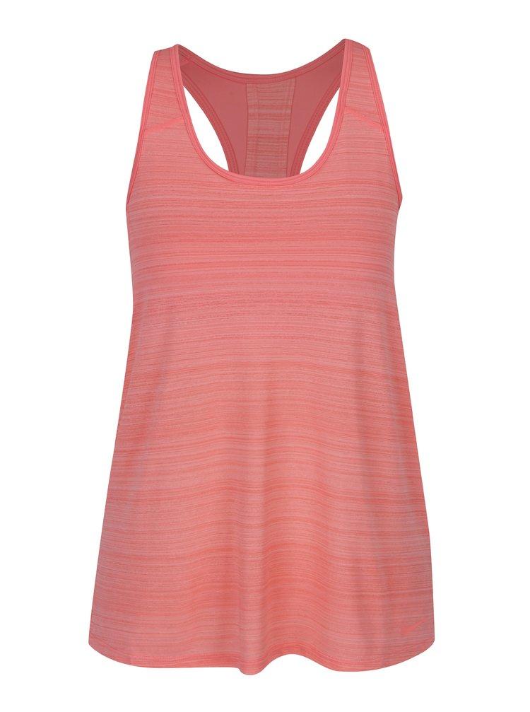 Neonově růžové dámské žíhané funkční tílko 2v1 Nike