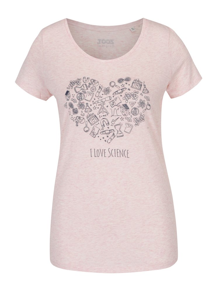 Svetloružové dámske žíhané tričko ZOOT Originál Science