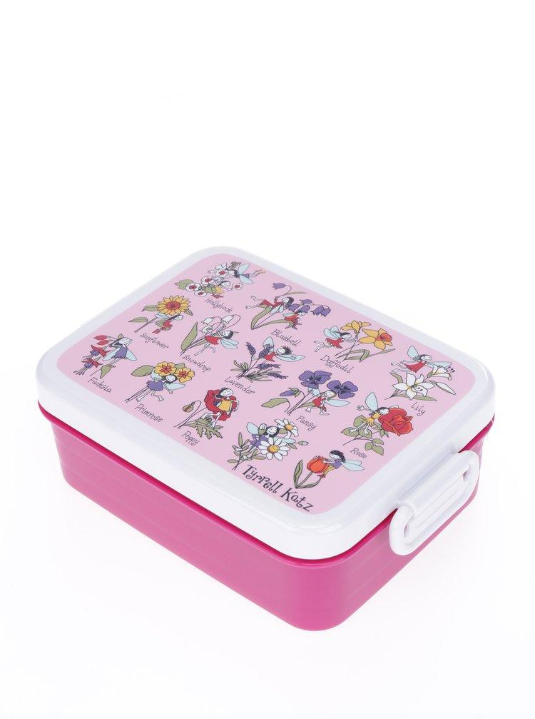 Růžový holčičí svačinový box Tyrrell Katz Flower Fairy