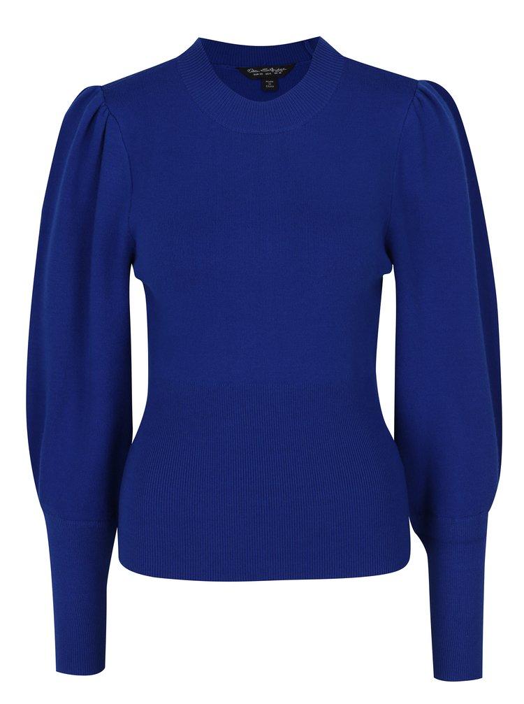 Modrý svetr s balónovými rukávy Miss Selfridge