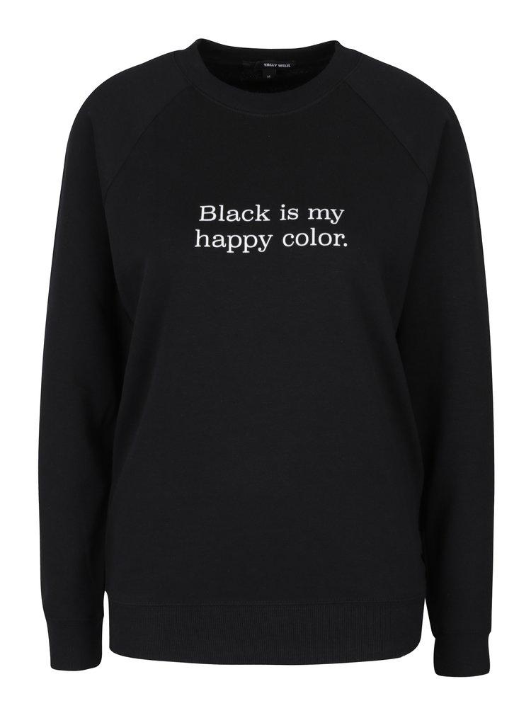 Černá mikina s potiskem TALLY WEiJL