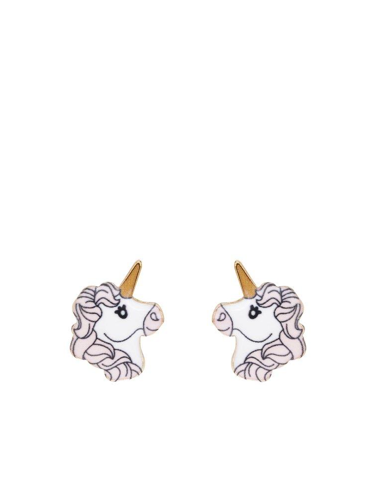 Cercei în formă de unicorn crem & roz TALLY WEiJL