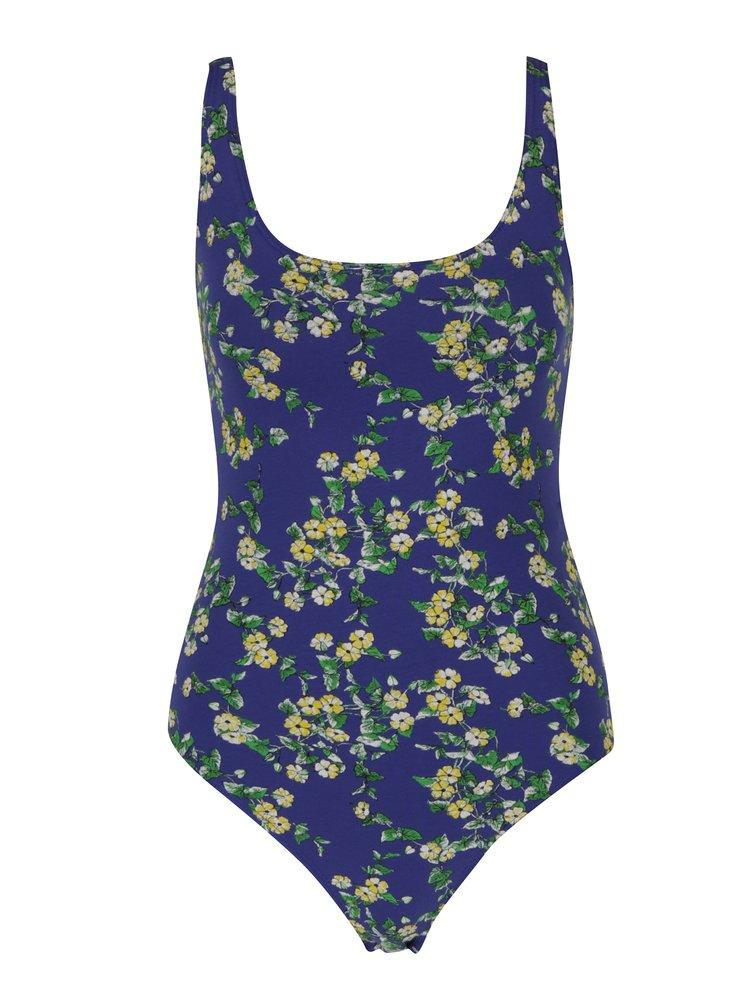 Modré květované body Miss Selfridge