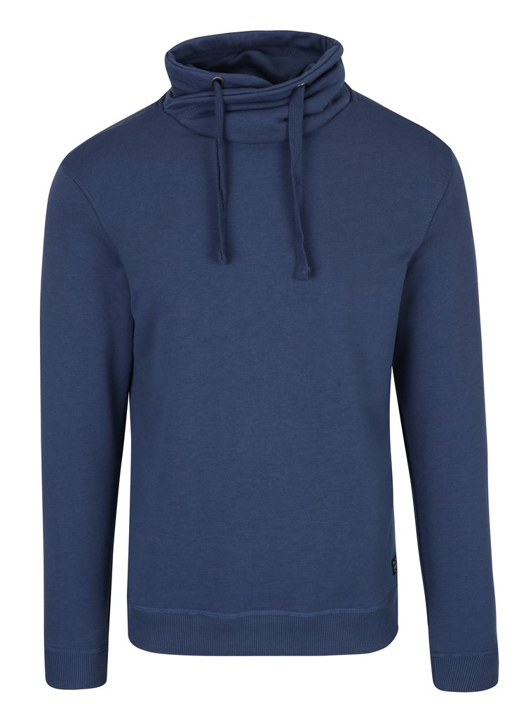 Bluza albastra cu guler inalt - Blend