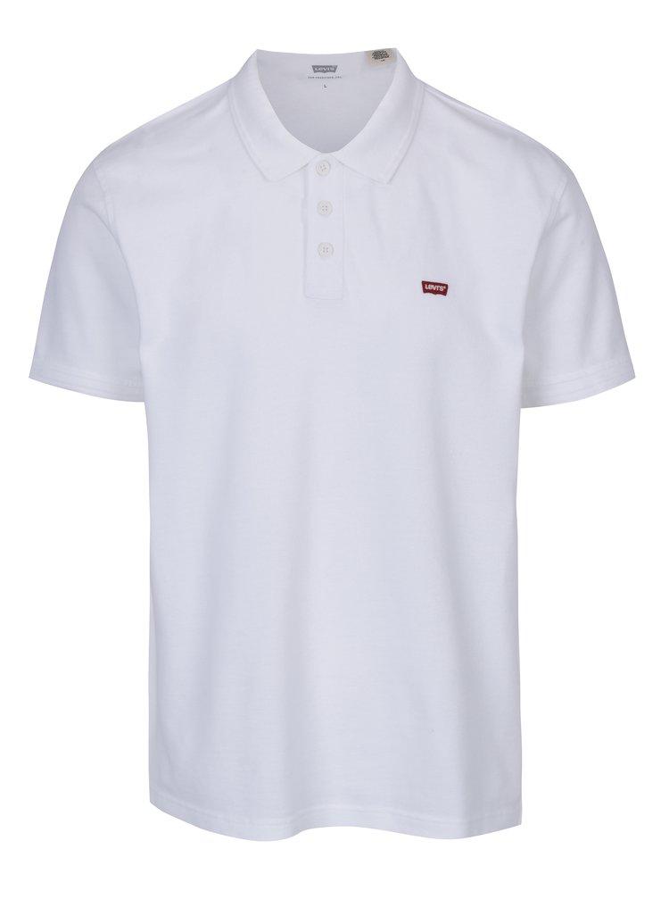 Tricou bărbătesc alb polo Levi's®