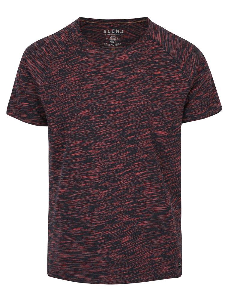 Tricou rosu melanj -  Blend