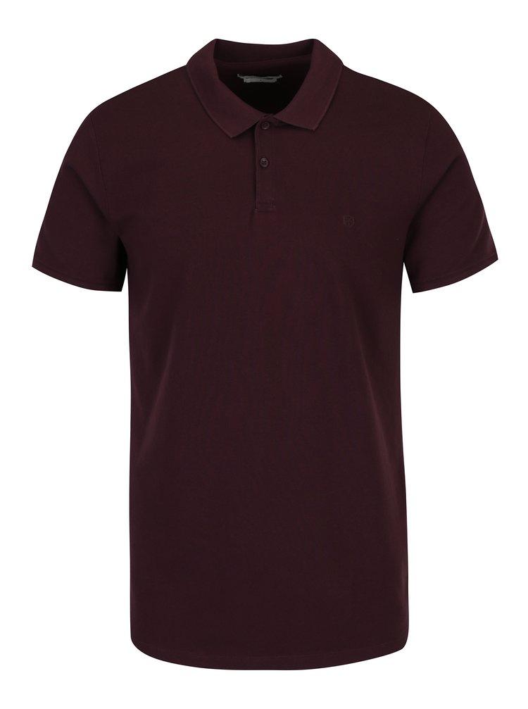 Vínové polo tričko Jack & Jones Belfast