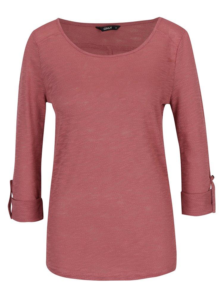 Bluza roz subtire cu maneci ajustabile ONLY Jess