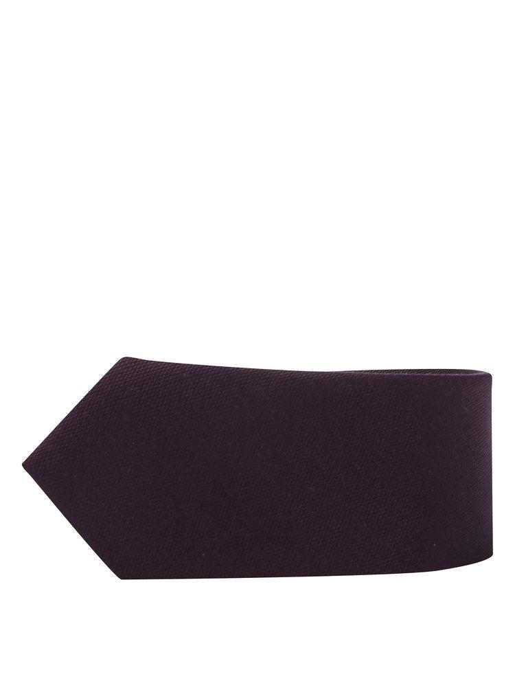 Vínová kravata s jemným vzorom Selected Homme New