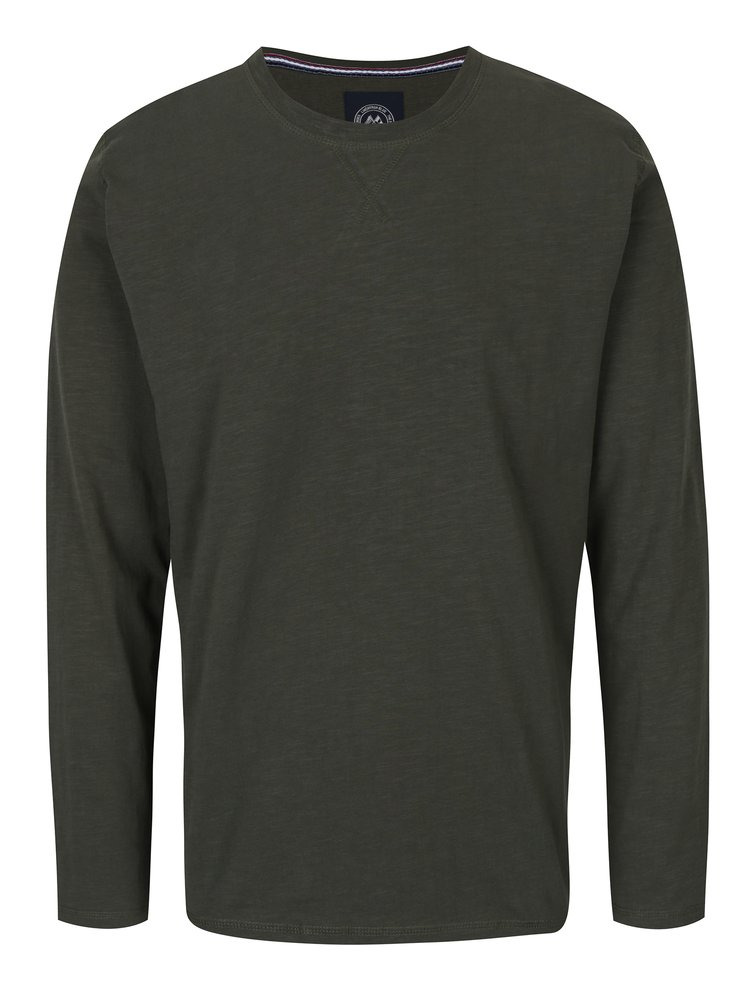 Tmavozelené tričko s dlhým rukávom Lindbergh