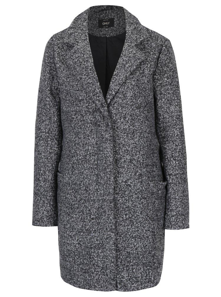 Tmavosivý melírovaný kabát ONLY Arya