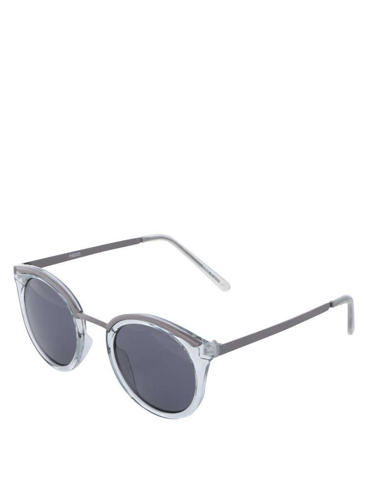 Světle zelené sluneční brýle Pieces Lena