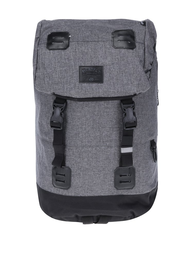 Rucsac unisex pentru laptop negru & gri - Meatfly Pioneer 2 26 l