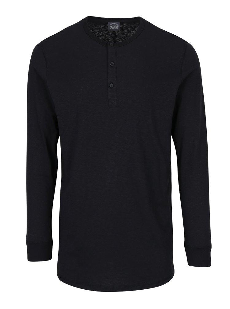 Čierne tričko s dlhým rukávom Jack & Jones Stitch