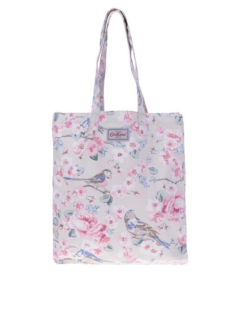 Béžová dámská květovaná plátěná taška Cath Kidston