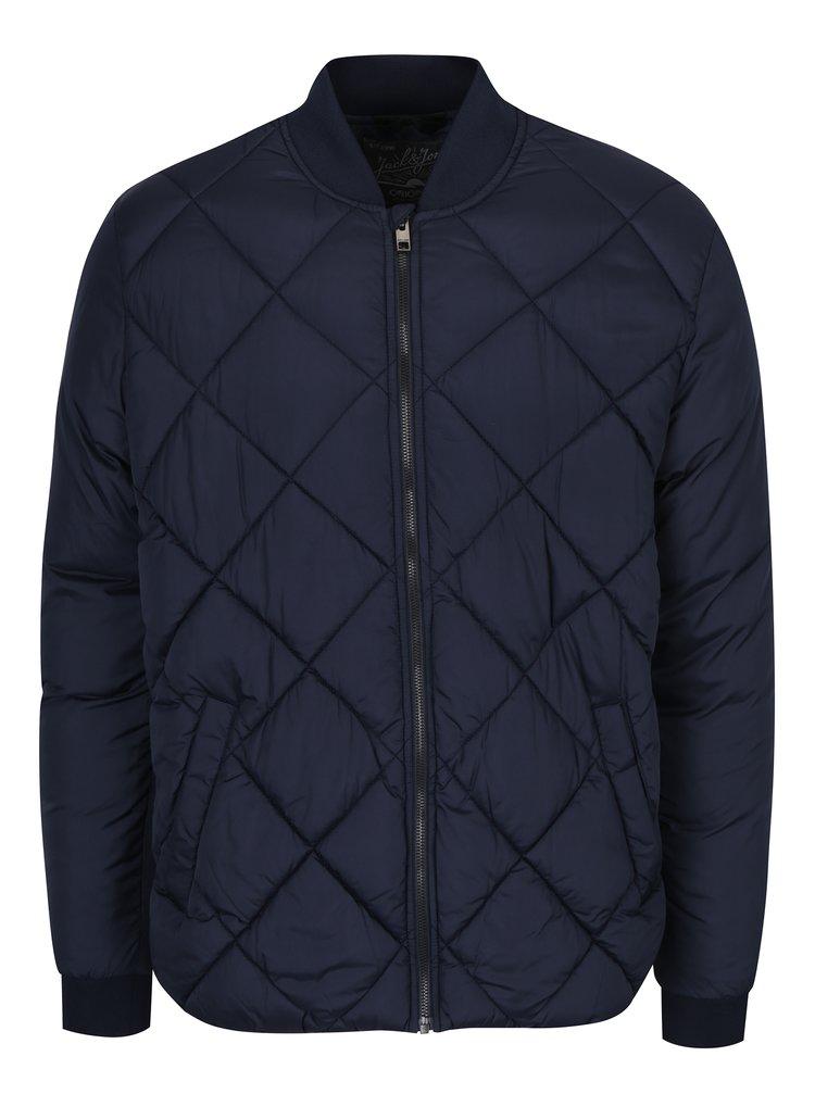 Tmavě modrá prošívaná bunda Jack & Jones South