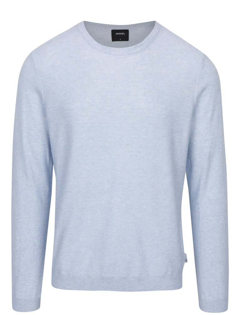 Světle modrý žíhaný svetr Burton Menswear London