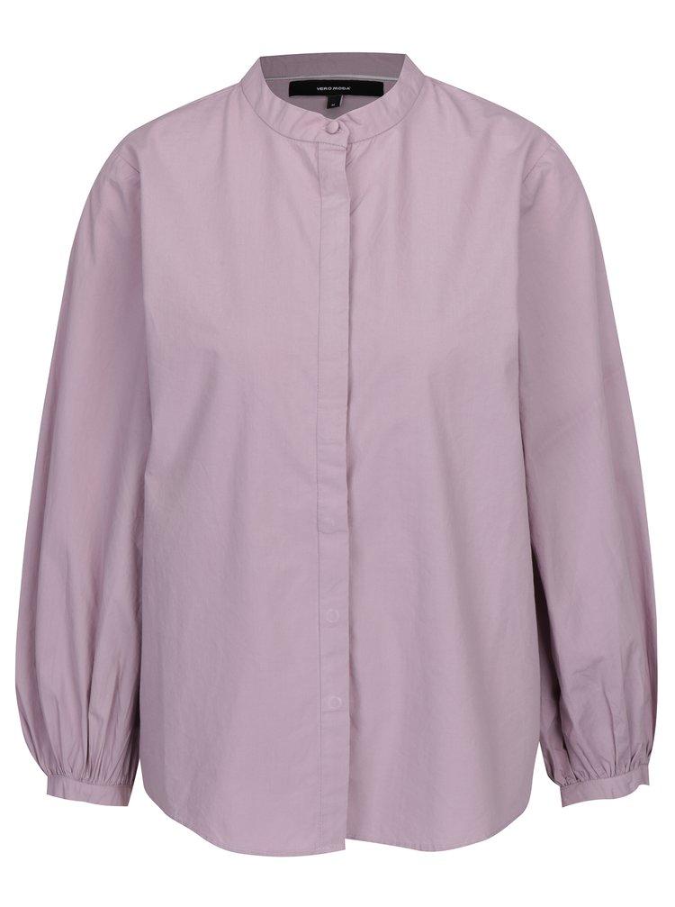 Světle fialová košile s 3/4 balónovým rukávem VERO MODA Thea