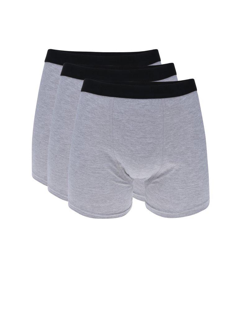 Set de 3 boxeri gri cu talie elastica M&Co