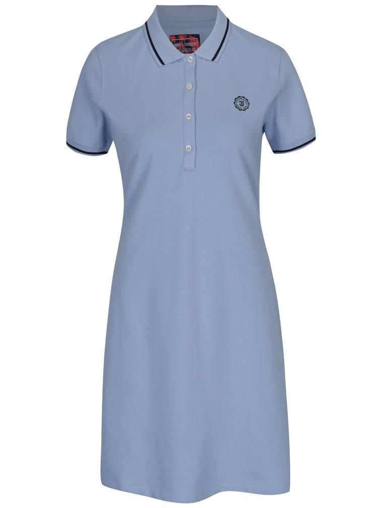 Světle modré polo šaty Jimmy Sanders