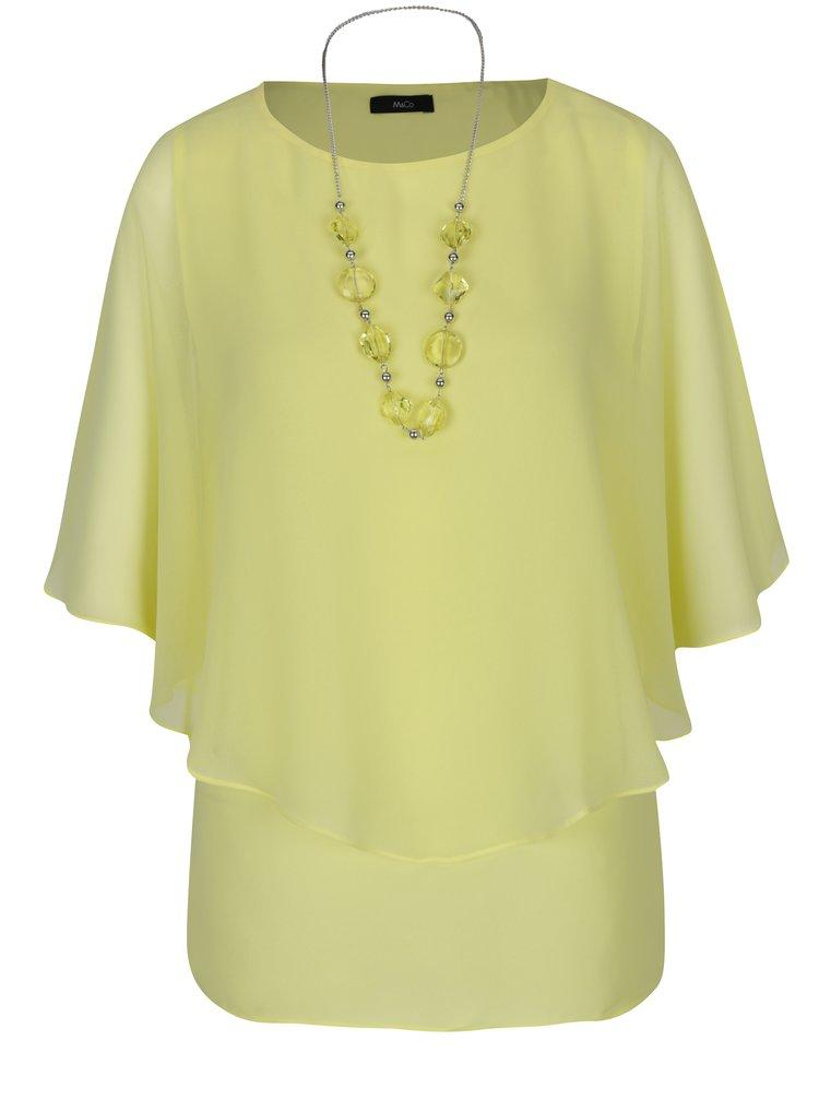 Bluza vaproroasa galben deschis cu maneci tip liliac - M&Co