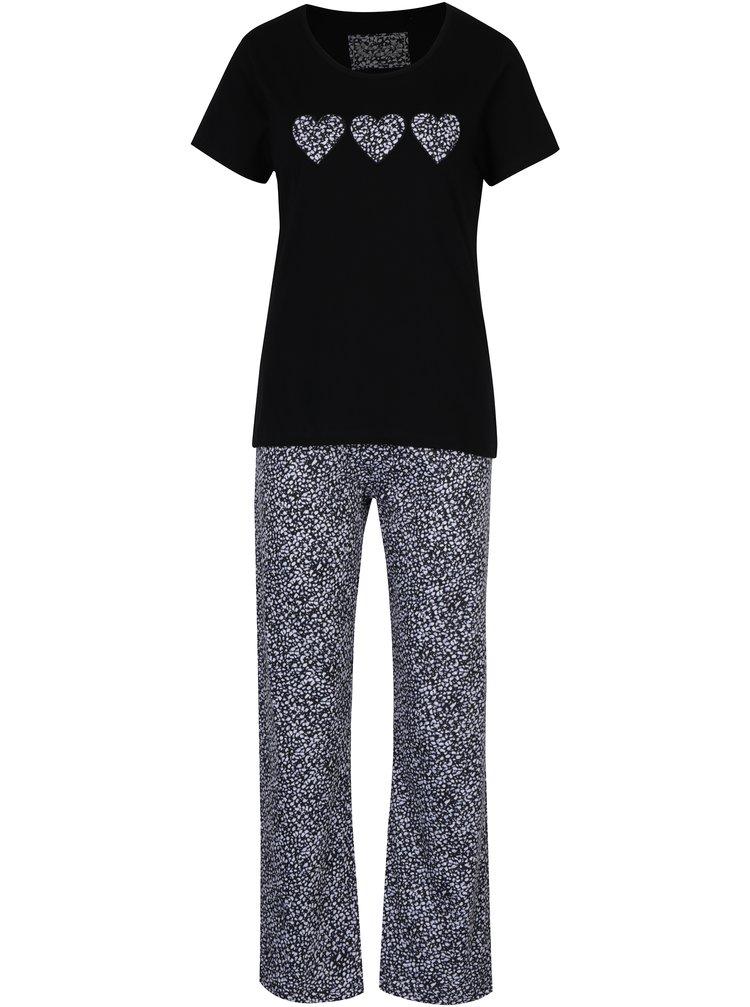 Pijama de bumbac bleumarin & negru - M&Co