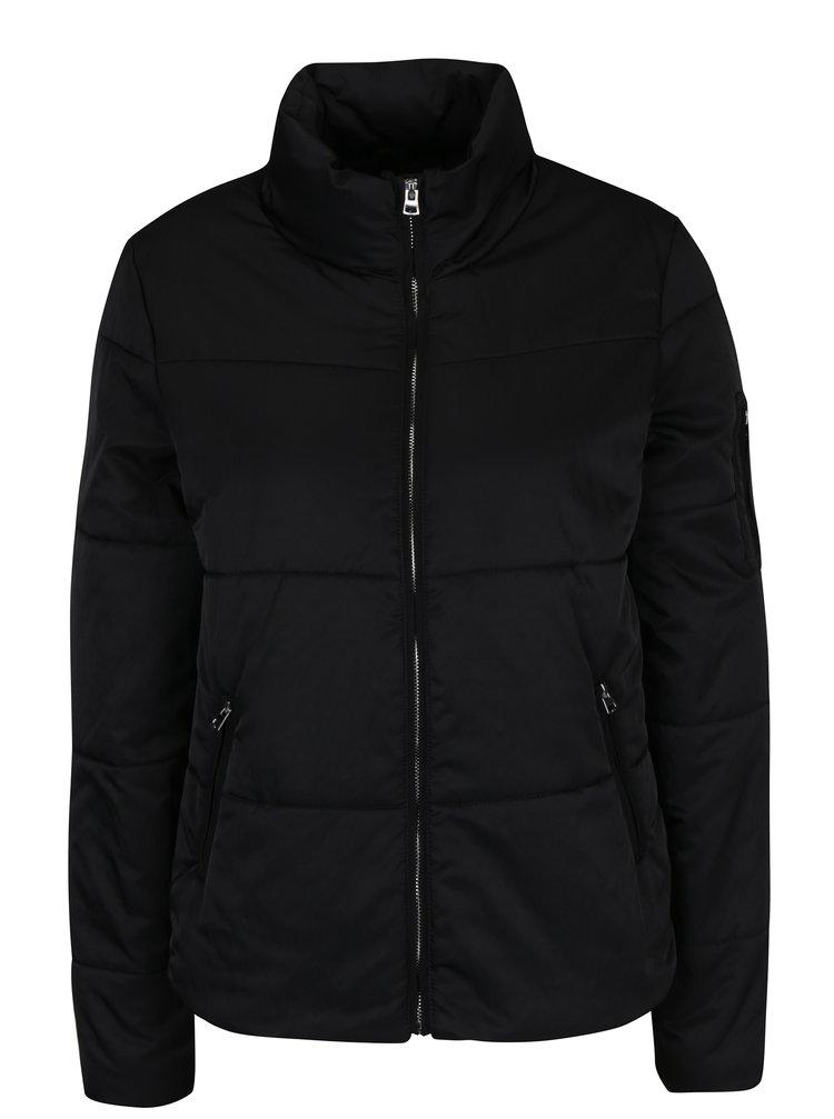 Černá prošívaná bunda Jacqueline de Yong Lion