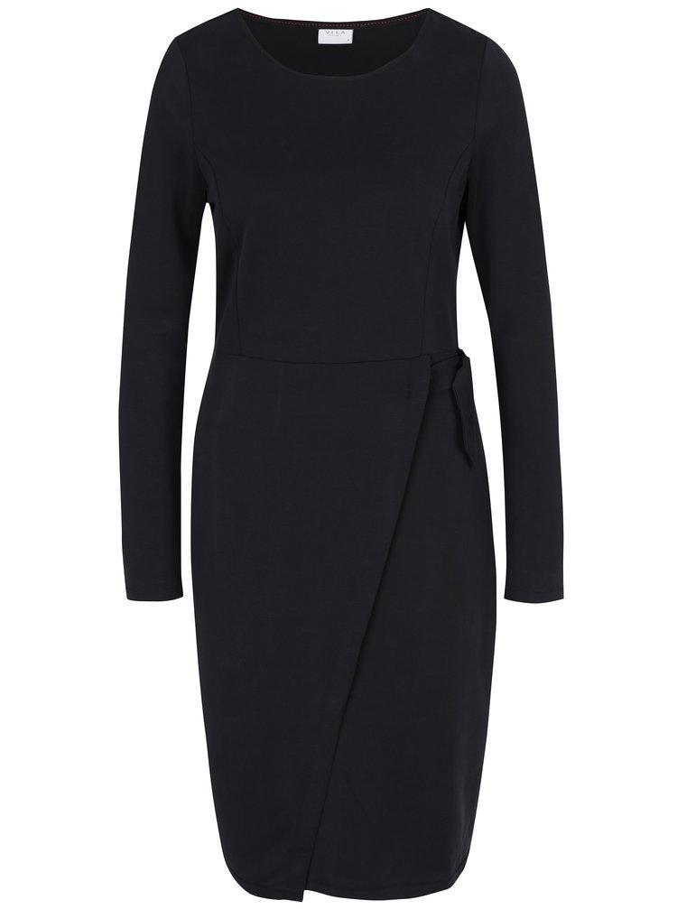 Černé šaty s dlouhým rukávem VILA Jamba
