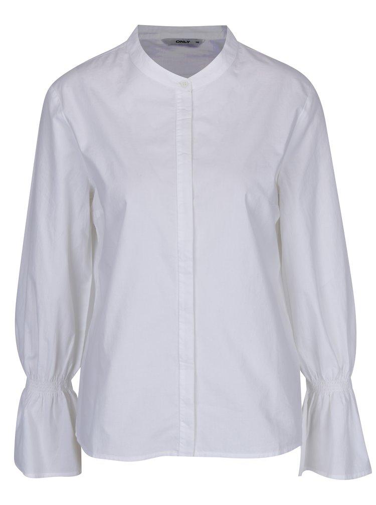 Bílá košile se zvonovými rukávy ONLY Fame