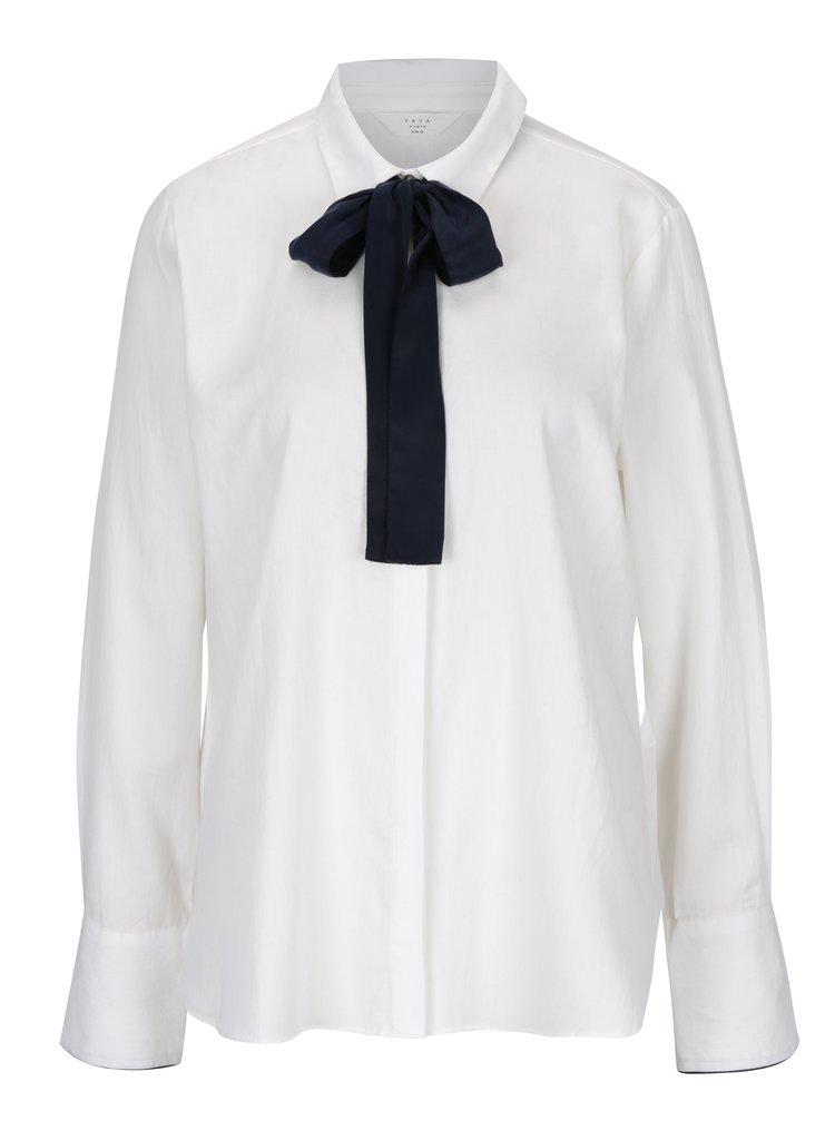 Bílá košile s mašlí YAYA