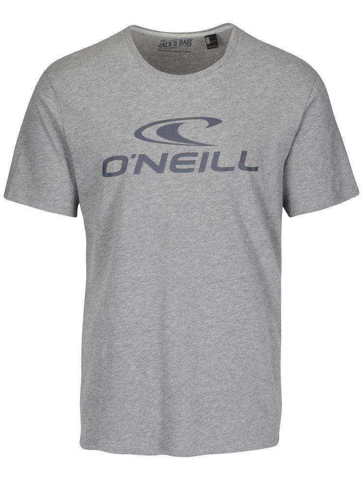Tricou gri cu print O'Neill