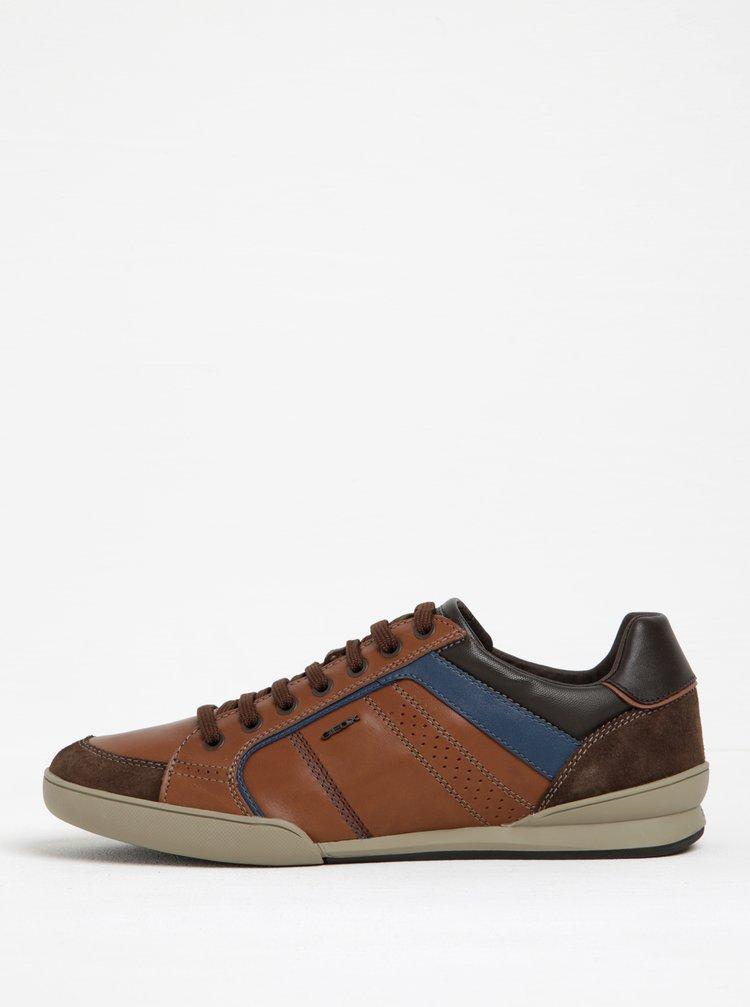 Pantofi sport bărbătești maro din piele Geox Kristof