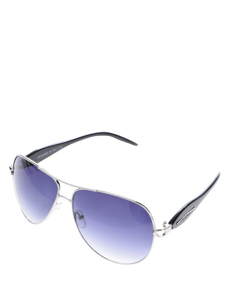 Modré sluneční brýle s obroučkami v černé barvě Haily's Ibiza