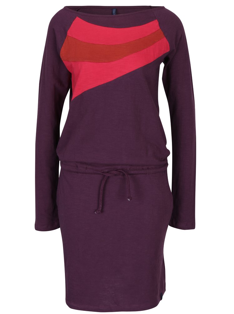 Tmavě fialové šaty s kapsami Tranquillo Philina