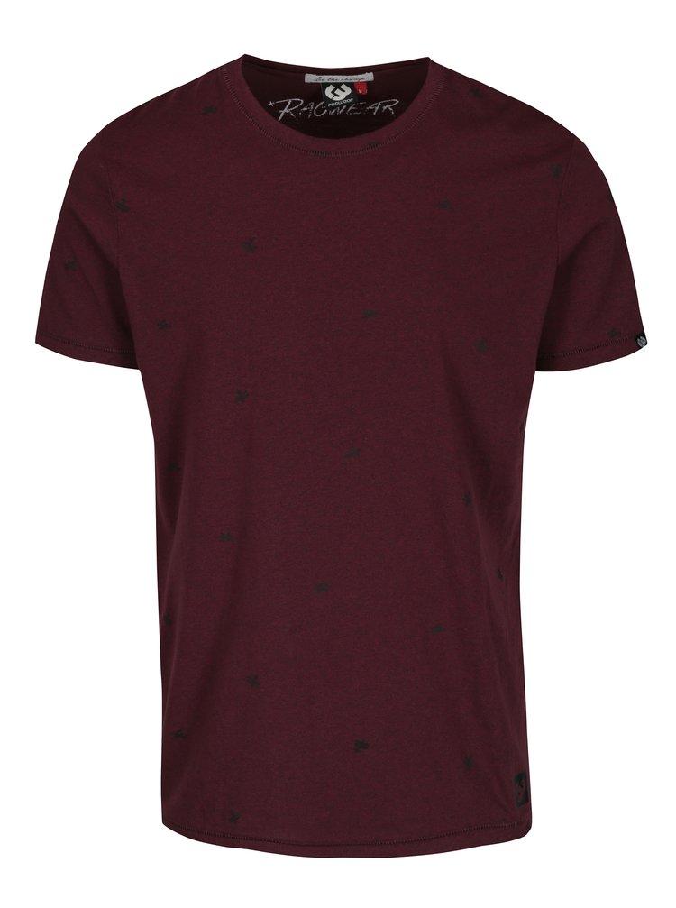 Tricou visiniu cu print Ragwear Dami pentru barbati
