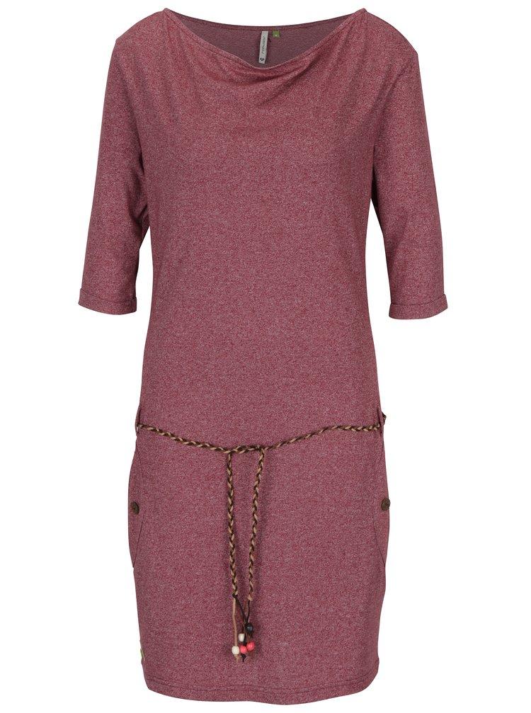Vínové šaty s kapsami Ragwear Tanya Mel Organic