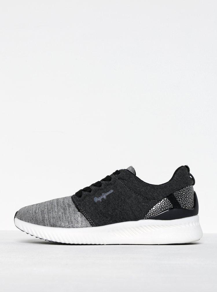 Pantofi sport argintiu cu gri Pepe Jeans Sutton Laces