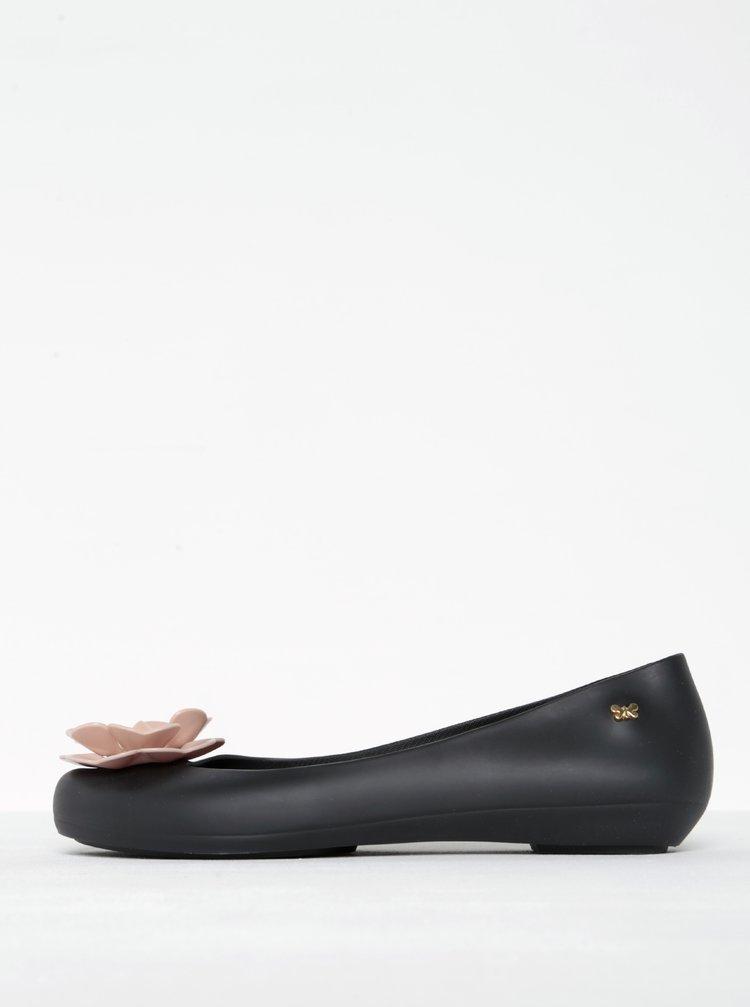 Černé baleríny s růžovým květem Zaxy Nature