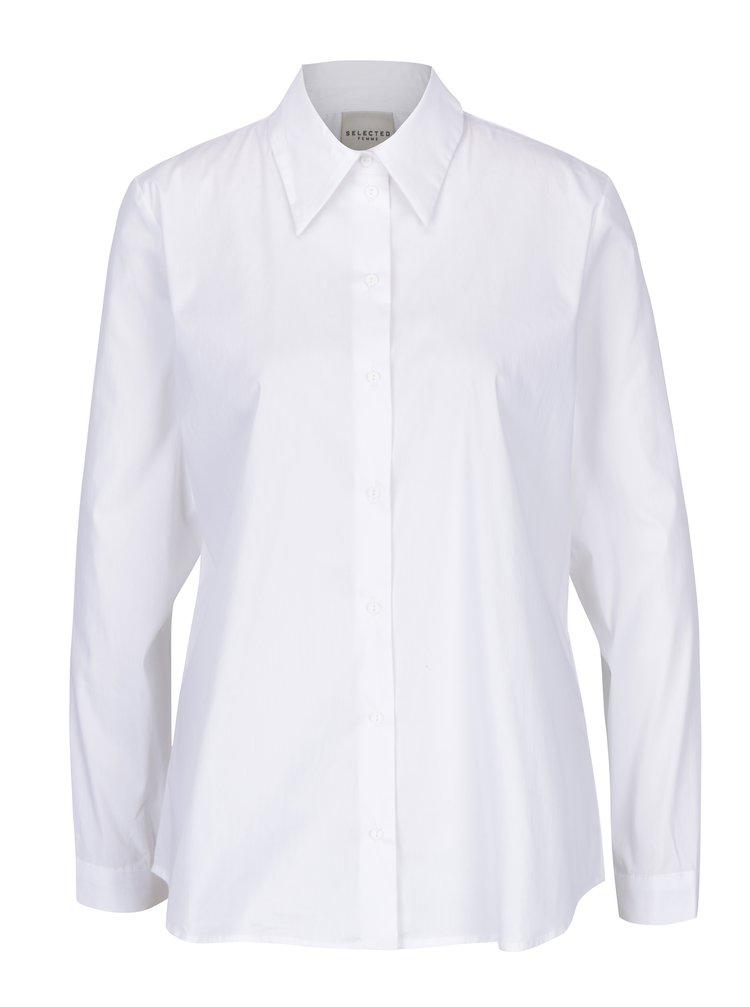 Bílá košile Selected Femme Saga