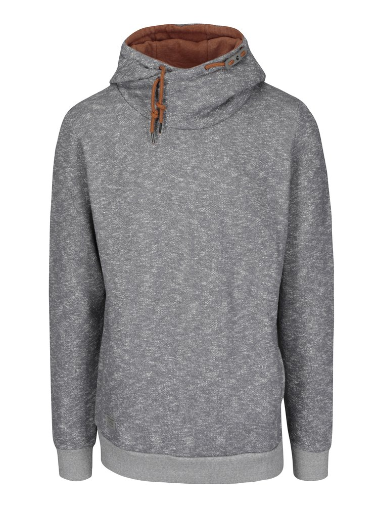 Bluză gri melanj cu guler asimetric și șnur inserat Ragwear Beat Mens